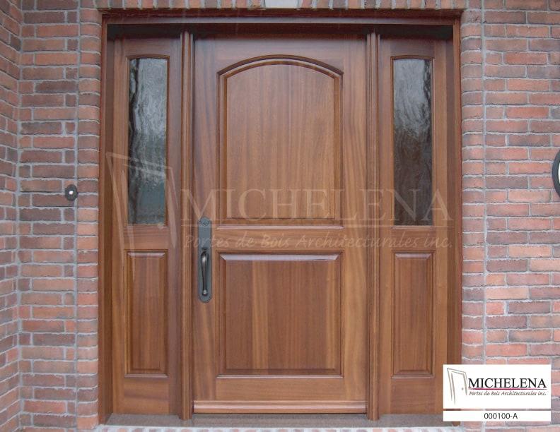 000100 a porte bois exterieure exterior wood door michelena for Porte de service exterieure bois