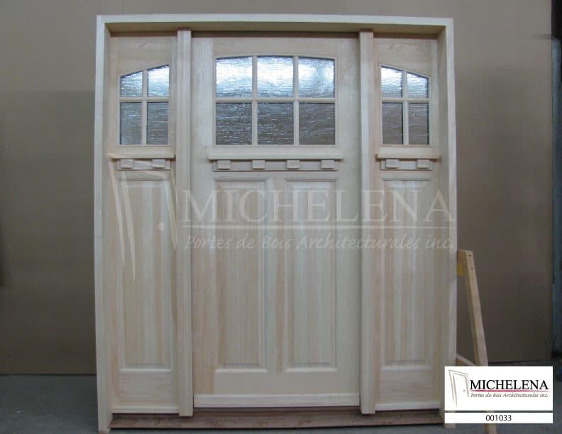 0001033 porte bois exterieure exterior wood door michelena for Porte de service exterieure bois