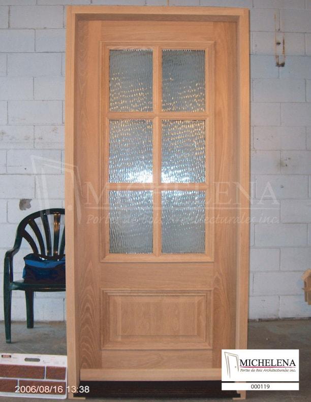000119 porte bois exterieure exterior wood door michelena for Porte exterieure bois