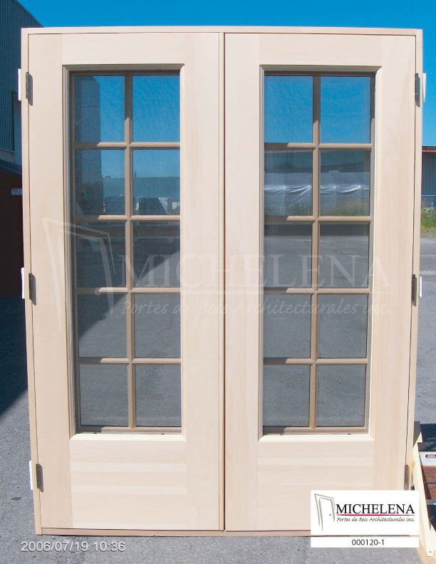 000120 1 porte bois exterieure exterior wood door michelena. Black Bedroom Furniture Sets. Home Design Ideas