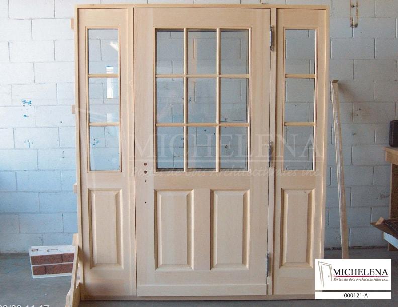 000121 a porte bois exterieure exterior wood door michelena. Black Bedroom Furniture Sets. Home Design Ideas