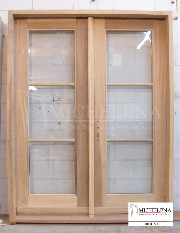 000159 b porte bois exterieure exterior wood door michelena for Porte exterieure bois