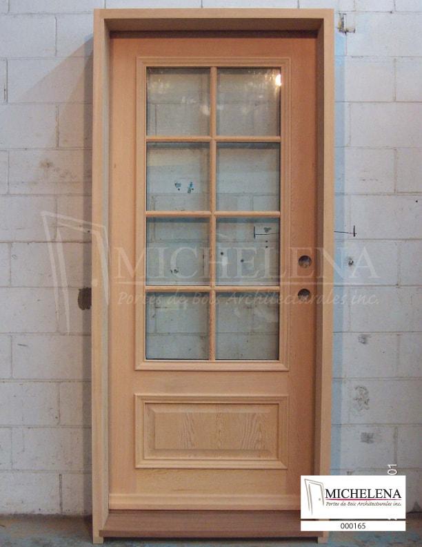 000165 porte bois exterieure exterior wood door michelena for Porte exterieure bois