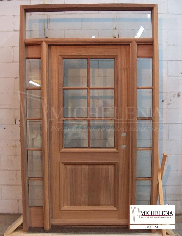 000170 porte bois exterieure exterior wood door michelena. Black Bedroom Furniture Sets. Home Design Ideas