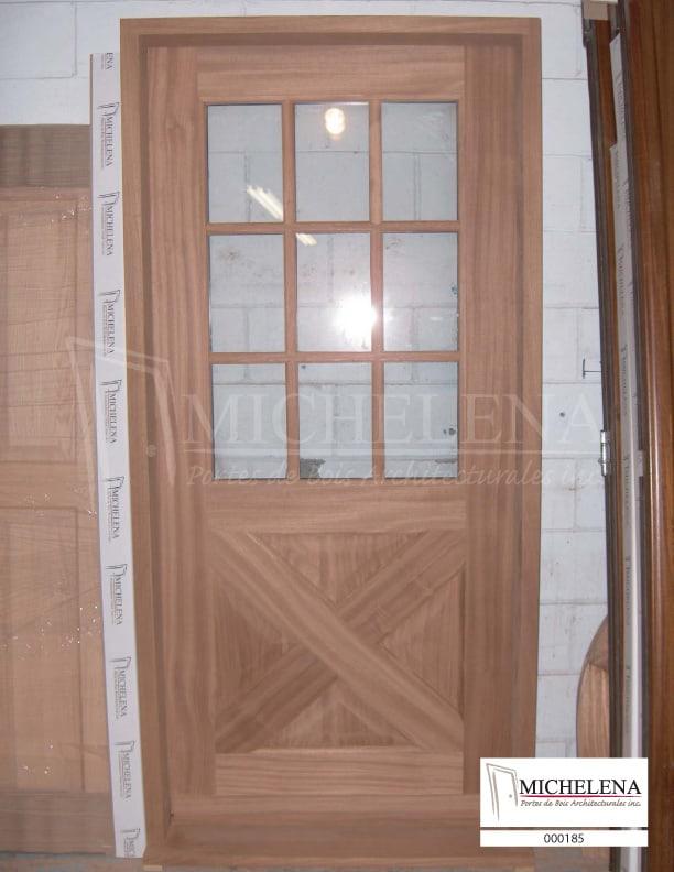 000185 porte bois exterieure exterior wood door michelena for Porte exterieure bois