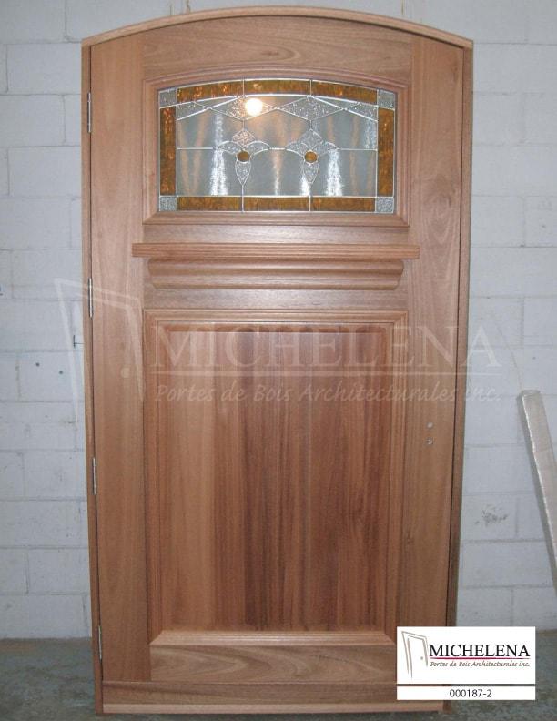 000187 2 porte bois exterieure exterior wood door michelena for Porte exterieure bois