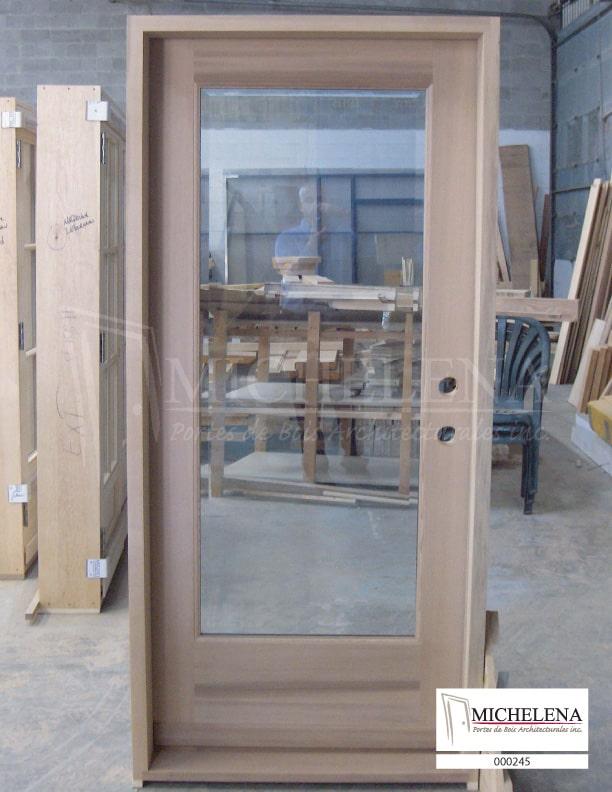 000245 porte bois exterieure exterior wood door michelena for Porte de service exterieure bois