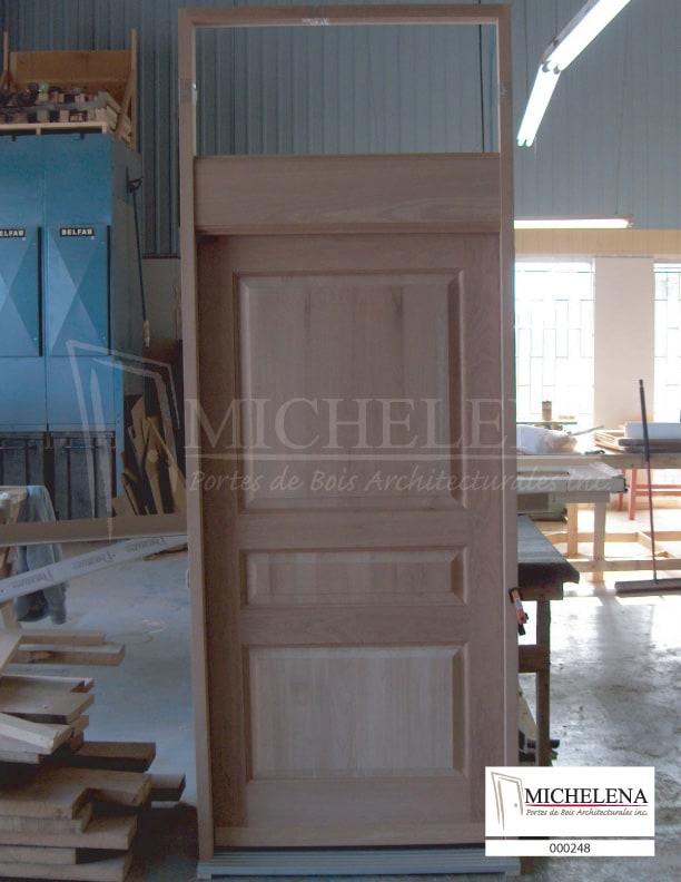 000248 porte bois exterieure exterior wood door michelena for Porte exterieure bois