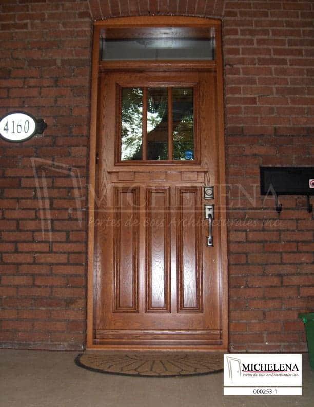 000253 1 porte bois exterieure exterior wood door michelena for Porte exterieure bois