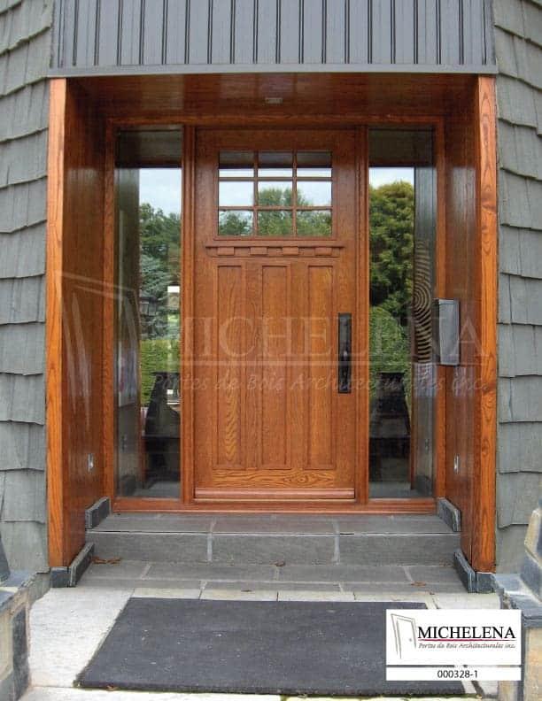 000328 1 porte bois exterieure exterior wood door michelena for Porte exterieure bois vitree