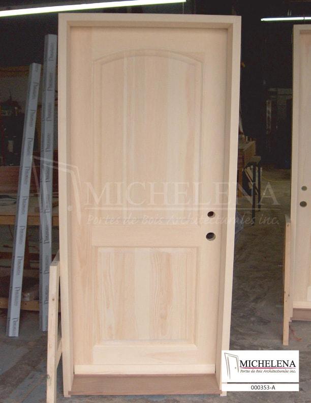 000353 a porte bois exterieure exterior wood door michelena for Porte exterieure bois