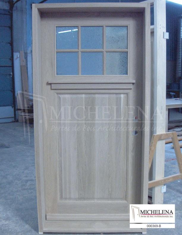 000369 b porte bois exterieure exterior wood door michelena for Porte de service exterieure bois