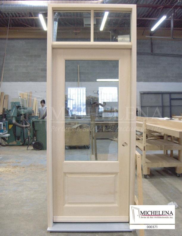000371 porte bois exterieure exterior wood door michelena for Porte exterieure bois vitree