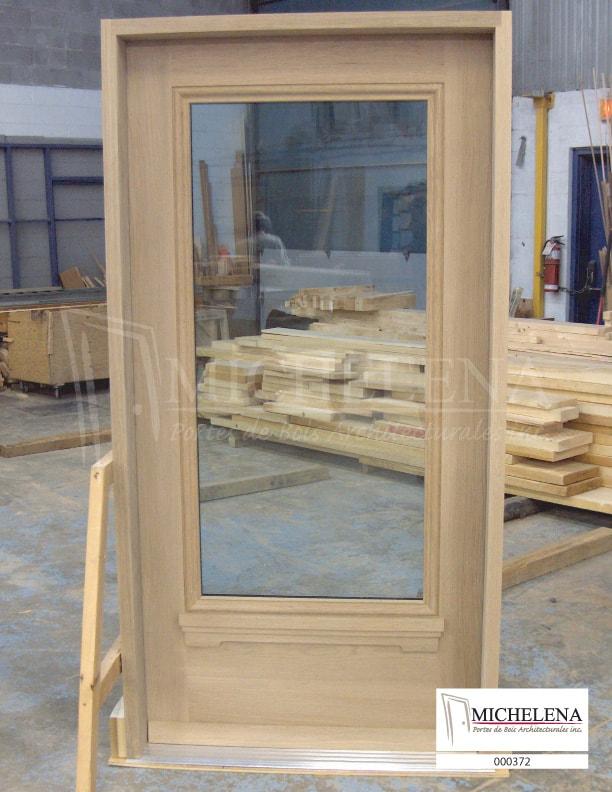 000372 porte bois exterieure exterior wood door michelena for Porte exterieure bois vitree