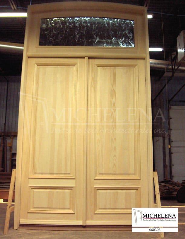 000398 1 porte bois exterieure exterior wood door michelena for Porte exterieure bois
