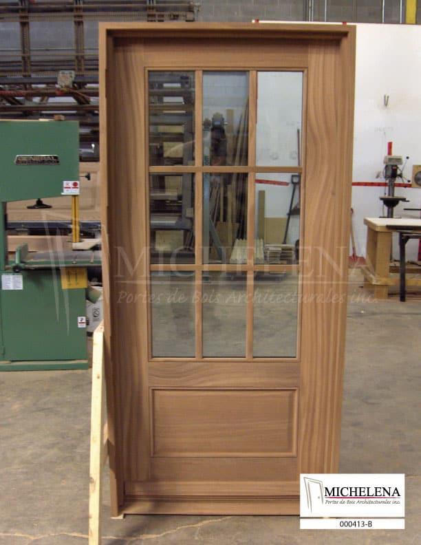 000413 b porte bois exterieure exterior wood door michelena. Black Bedroom Furniture Sets. Home Design Ideas