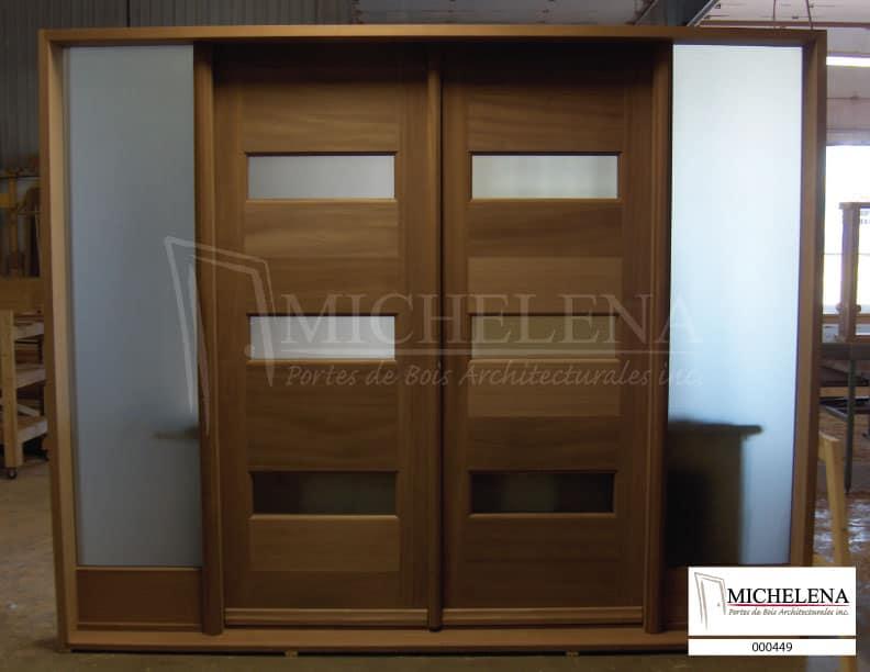 000449 porte bois exterieure exterior wood door michelena for Porte exterieure bois