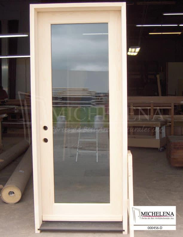 000456 d porte bois exterieure exterior wood door michelena for Porte exterieure bois