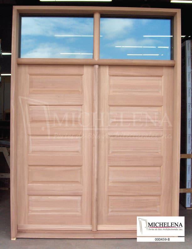 000459 b porte bois exterieure exterior wood door michelena for Porte exterieure bois