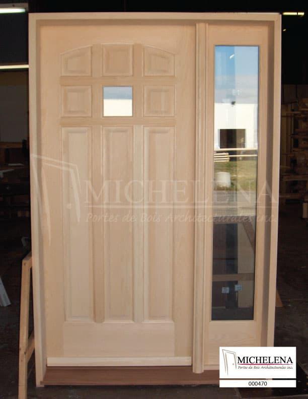 000470 porte bois exterieure exterior wood door michelena for Porte exterieure bois vitree