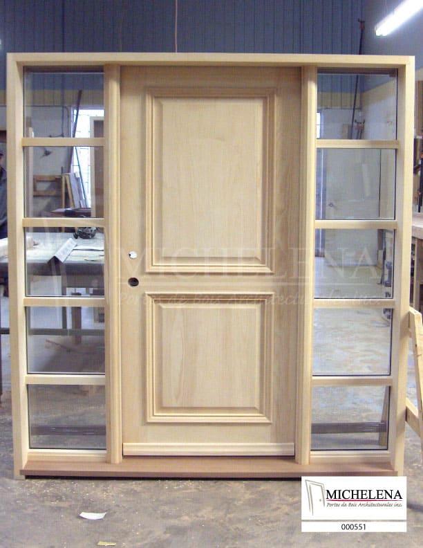 000551 porte bois exterieure exterior wood door michelena for Porte de service exterieure bois