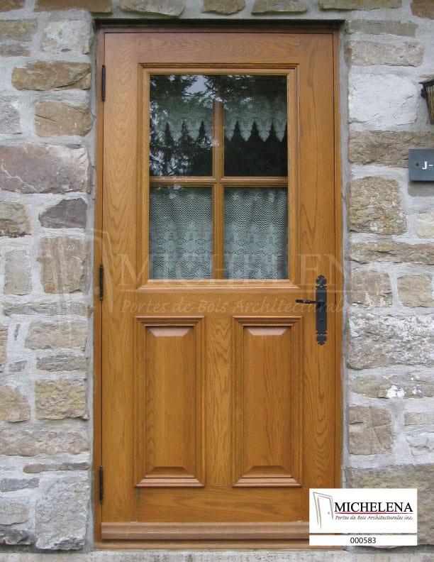 000583 porte bois exterieure exterior wood door michelena for Porte exterieure bois
