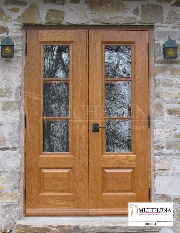000584 1 porte bois exterieure exterior wood door michelena for Porte exterieure bois