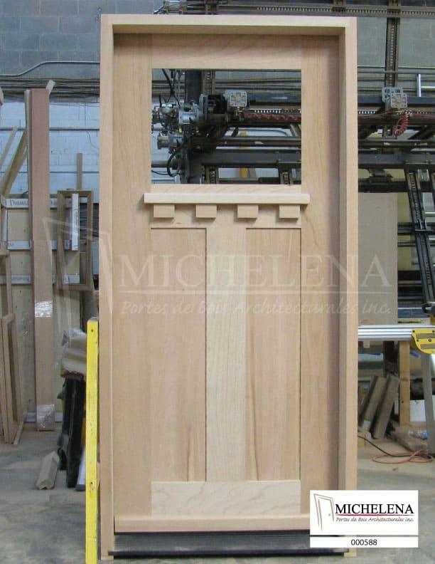 000588 porte bois exterieure exterior wood door michelena for Porte de service exterieure bois