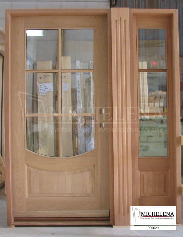 000629 porte bois exterieure exterior wood door michelena for Porte de service exterieure bois