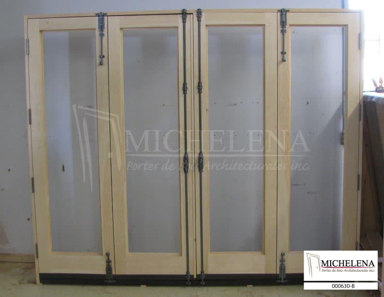 000630 b porte bois exterieure exterior wood door michelena for Porte de service exterieure bois