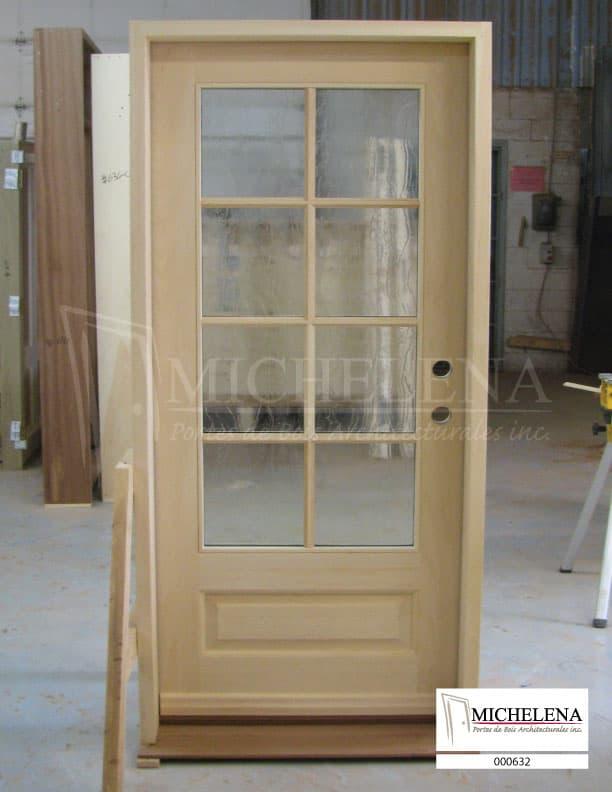 000632 porte bois exterieure exterior wood door michelena for Porte de service exterieure bois