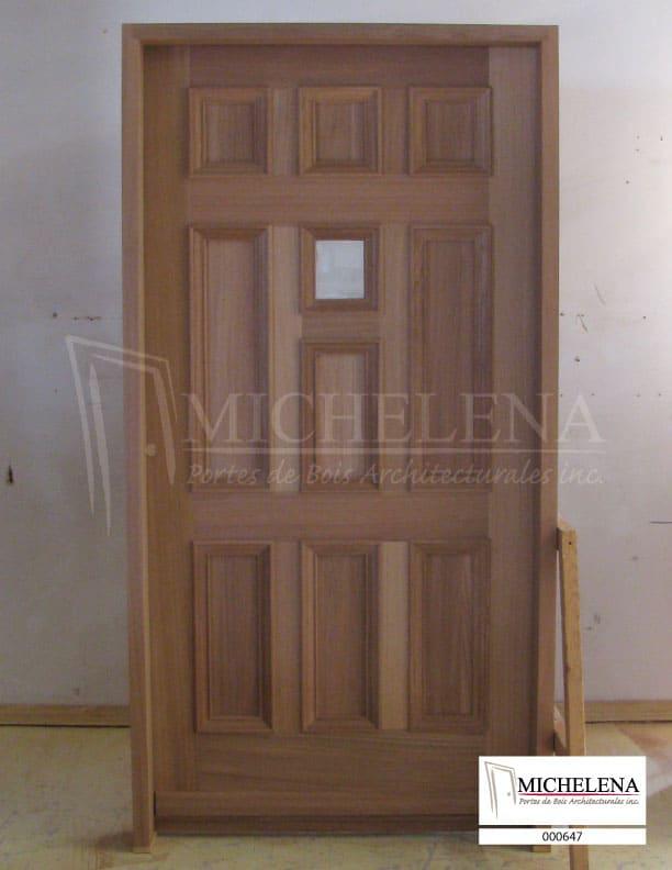 000647 porte bois exterieure exterior wood door michelena for Porte exterieure bois