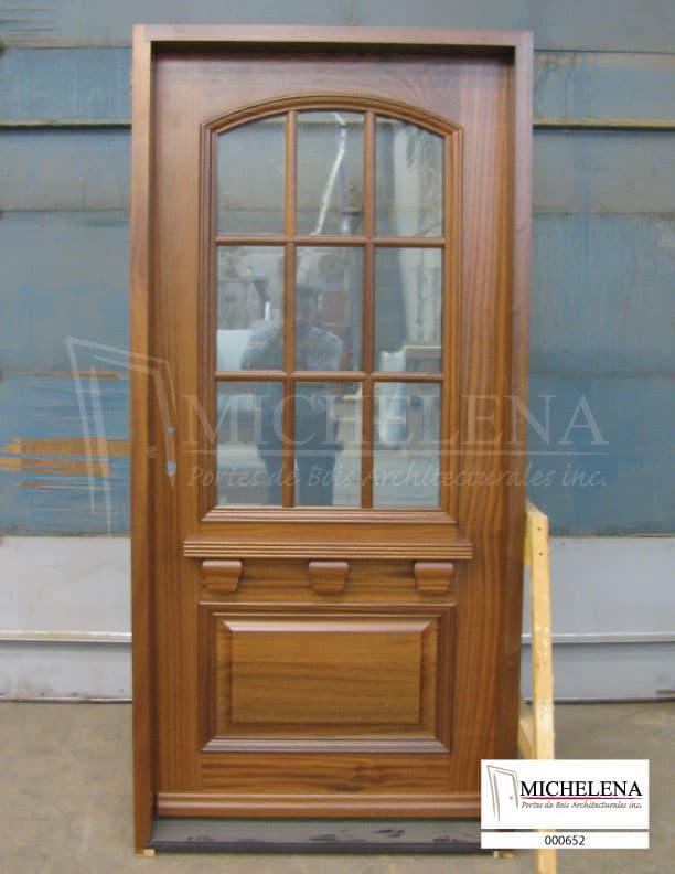 000652 porte bois exterieure exterior wood door michelena for Porte exterieure bois