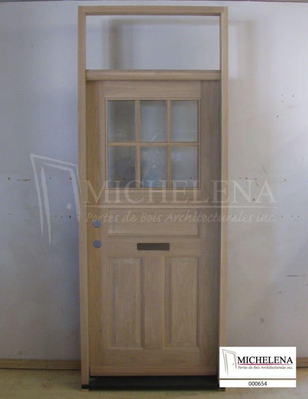 000654 porte bois exterieure exterior wood door michelena for Porte de service exterieure bois