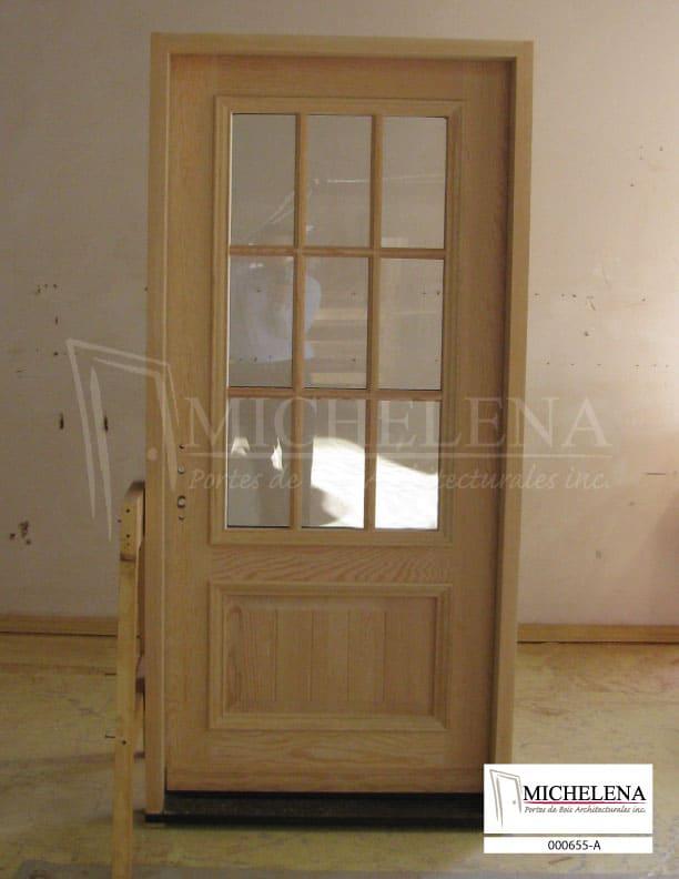 000655 a porte bois exterieure exterior wood door michelena for Porte exterieure bois