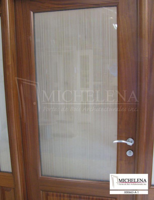 000663 a 1 porte bois exterieure exterior wood door for Porte de service exterieure bois