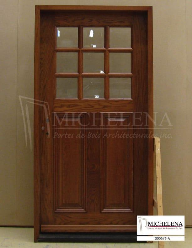 000676 a porte bois exterieure exterior wood door michelena for Porte exterieure bois