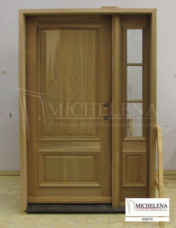 000679 porte bois exterieure exterior wood door michelena for Porte exterieure bois vitree