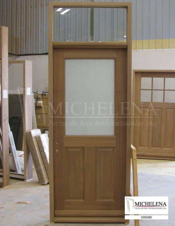 000680 porte bois exterieure exterior wood door michelena for Porte exterieure bois vitree
