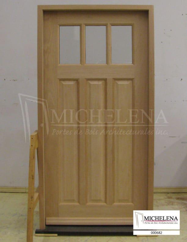 000682 porte bois exterieure exterior wood door michelena for Porte exterieure bois
