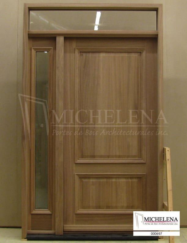 000697 porte bois exterieure exterior wood door michelena for Porte exterieure bois