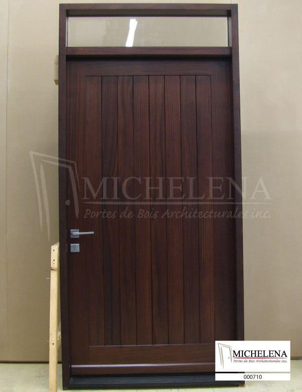 000710 porte bois exterieure exterior wood door michelena for Porte exterieure bois