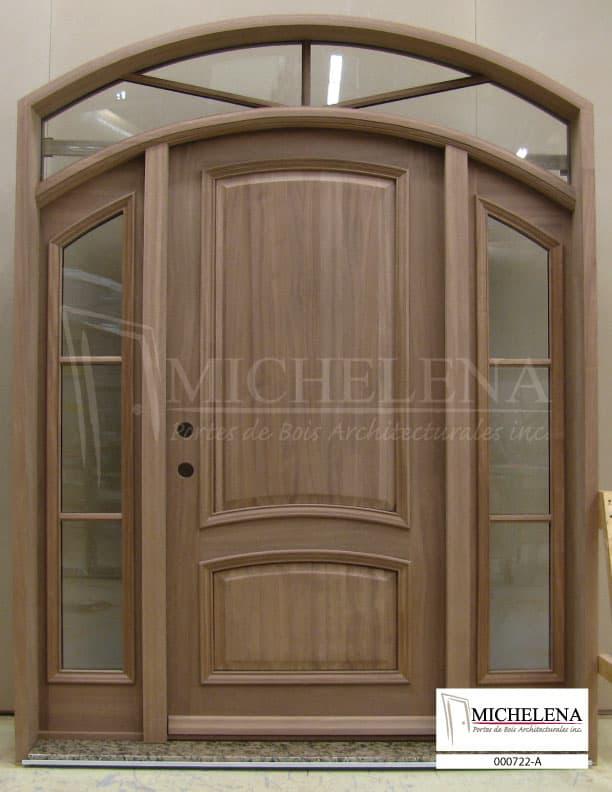 000722 a porte bois exterieure exterior wood door michelena for Porte exterieure bois
