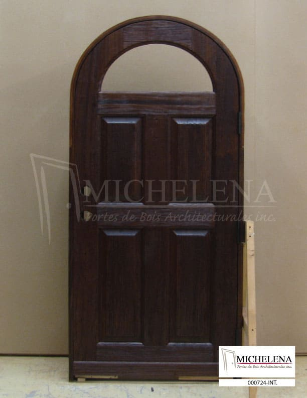 000724 int porte cellier bois wine cellar wood door for Porte cellier