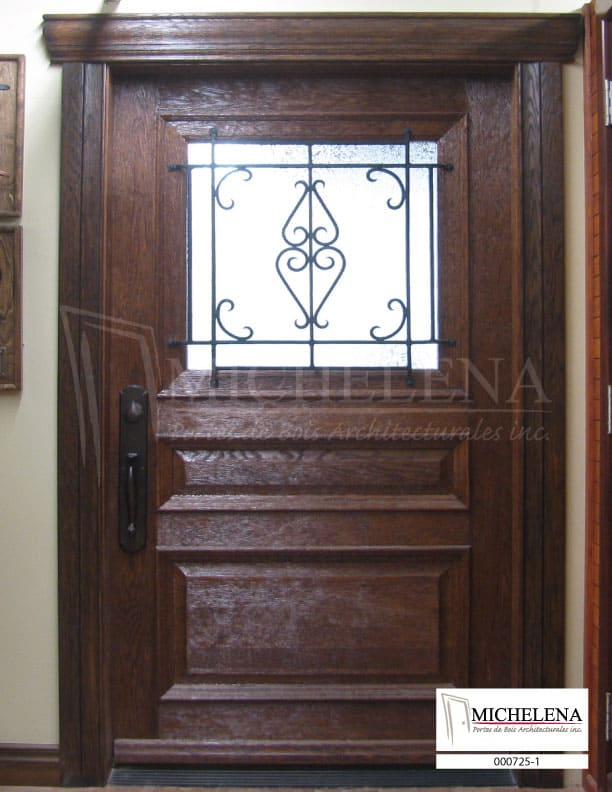 000725 1 porte bois exterieure exterior wood door michelena for Porte exterieure bois