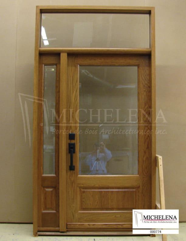 000774 porte bois exterieure exterior wood door michelena for Porte exterieure bois