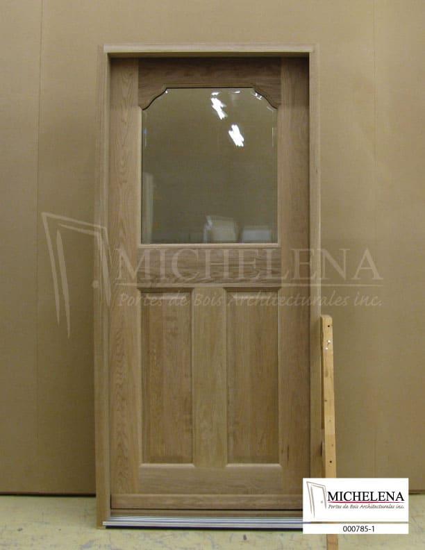 000785 1 porte bois exterieure exterior wood door michelena for Porte exterieure de service