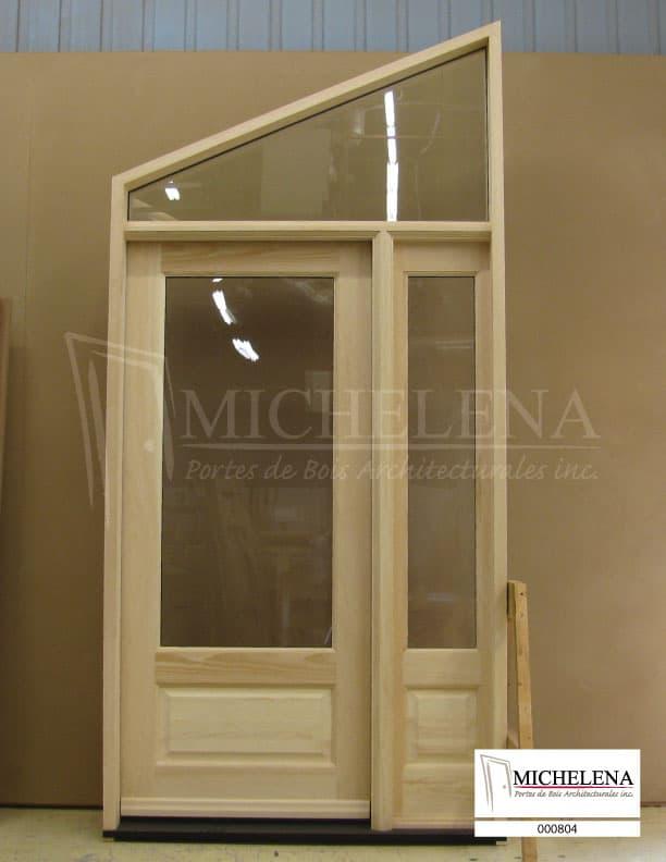 000804 porte bois exterieure exterior wood door michelena for Porte de service exterieure bois