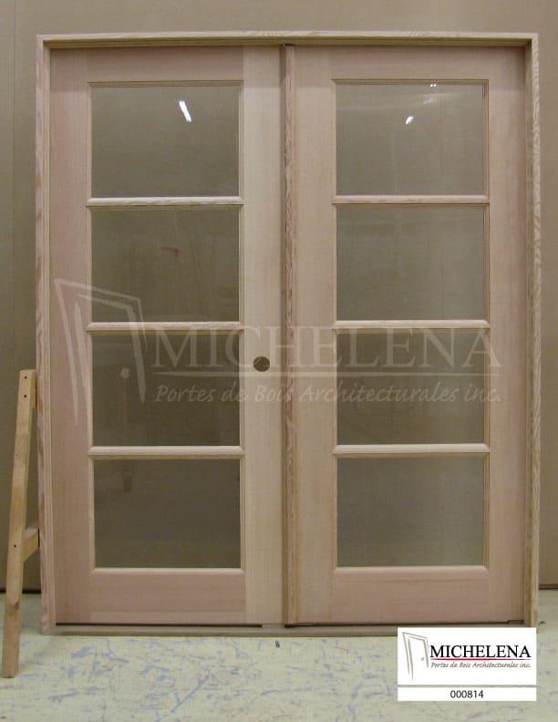 000814 porte bois exterieure exterior wood door michelena for Porte exterieure bois vitree