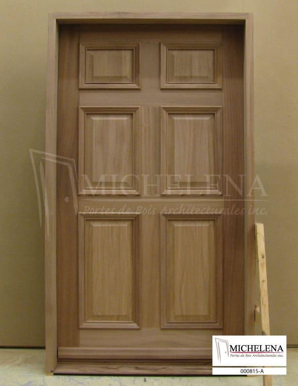 000815 a porte bois exterieure exterior wood door michelena for Porte exterieure bois